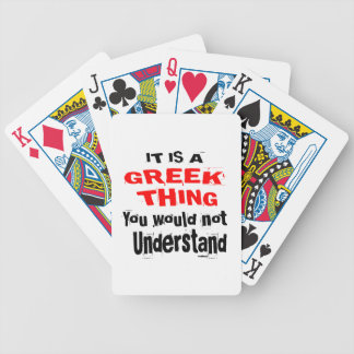 IT IS GREEK THING DESIGNS BICYCLE PLAYING CARDS