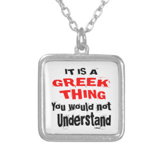 IT IS GREEK THING DESIGNS SILVER PLATED NECKLACE