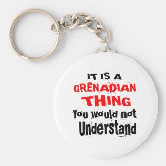 IT IS GRENADIAN THING DESIGNS KEY RING