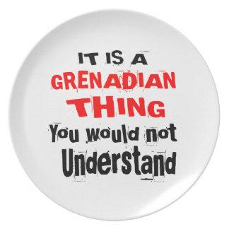 IT IS GRENADIAN THING DESIGNS PLATE
