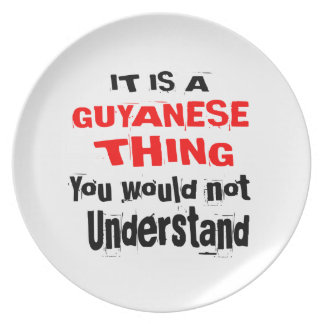 IT IS GUYANESE THING DESIGNS PLATE