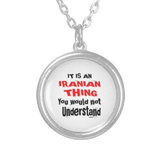 IT IS IRANIAN THING DESIGNS SILVER PLATED NECKLACE