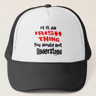 IT IS IRISH THING DESIGNS TRUCKER HAT