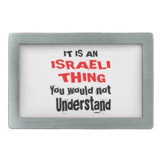 IT IS ISRAELI THING DESIGNS BELT BUCKLES