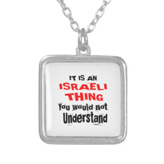IT IS ISRAELI THING DESIGNS SILVER PLATED NECKLACE