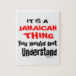 IT IS JAMAICAN THING DESIGNS JIGSAW PUZZLE