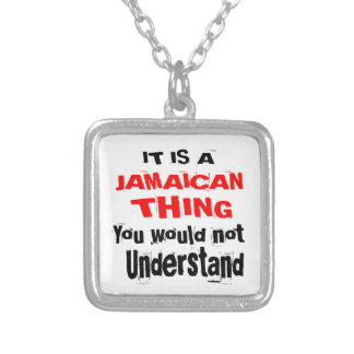 IT IS JAMAICAN THING DESIGNS SILVER PLATED NECKLACE