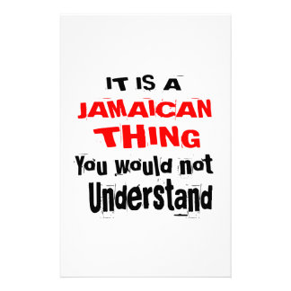 IT IS JAMAICAN THING DESIGNS STATIONERY
