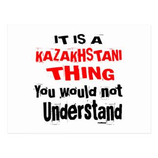 IT IS KAZAKHSTANI THING DESIGNS POSTCARD