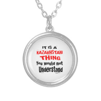 IT IS KAZAKHSTANI THING DESIGNS SILVER PLATED NECKLACE