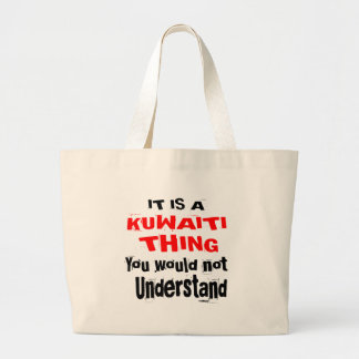 IT IS KUWAITI THING DESIGNS LARGE TOTE BAG