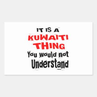 IT IS KUWAITI THING DESIGNS RECTANGULAR STICKER