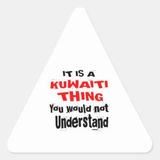 IT IS KUWAITI THING DESIGNS TRIANGLE STICKER