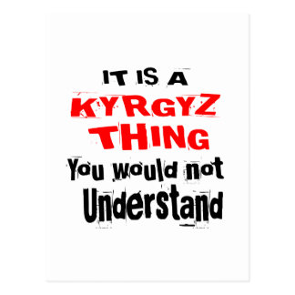 IT IS KYRGYZ THING DESIGNS POSTCARD