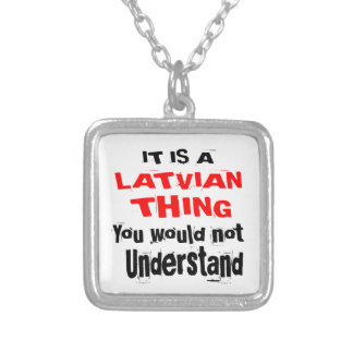 IT IS LATVIAN THING DESIGNS SILVER PLATED NECKLACE