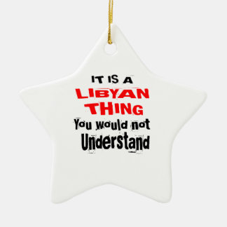 IT IS LIBYAN THING DESIGNS CERAMIC ORNAMENT
