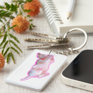 It is lovely time of the cat kitten [When the cat Key Ring
