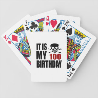 It Is My 100 Birthday Designs Bicycle Playing Cards