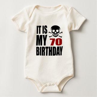 It Is My 70 Birthday Designs Baby Bodysuit