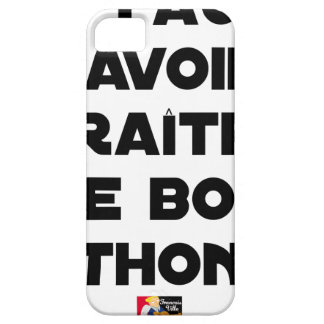 IT IS NECESSARY TO KNOW TO APPEAR OF GOOD TUNA - BARELY THERE iPhone 5 CASE