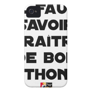 IT IS NECESSARY TO KNOW TO APPEAR OF GOOD TUNA - iPhone 4 Case-Mate CASE