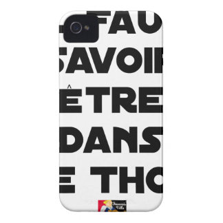 IT IS NECESSARY TO KNOW TO BE IN TUNA - Word games Case-Mate iPhone 4 Case