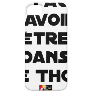 IT IS NECESSARY TO KNOW TO BE IN TUNA - Word games iPhone 5 Cases