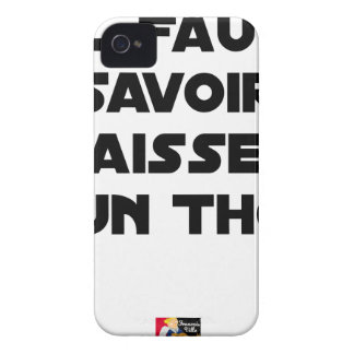 IT IS NECESSARY TO KNOW TO DROP By a TUNA - Word iPhone 4 Case