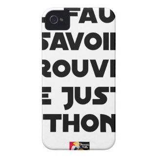 IT IS NECESSARY TO KNOW TO FIND RIGHT TUNA - Word iPhone 4 Cover