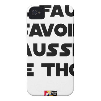 IT IS NECESSARY TO KNOW TO RAISE TUNA - Word games iPhone 4 Cases