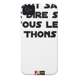 IT IS NECESSARY TO KNOW TO SAY IT ON ALL TUNAS iPhone 4 Case-Mate CASE