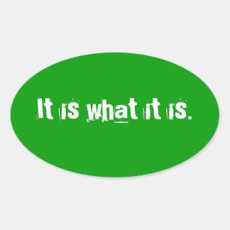 It is oval sticker
