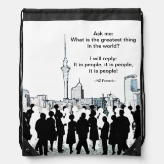 It Is People! Drawstring Backpack
