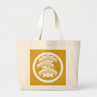 It is rough in the circle the branch attaching large tote bag