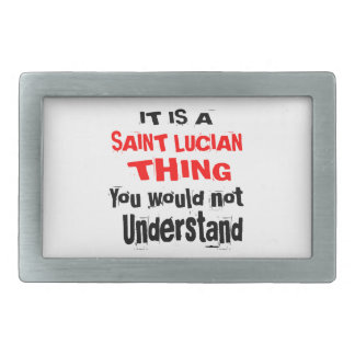 IT IS SAINT LUCIAN THING DESIGNS RECTANGULAR BELT BUCKLES