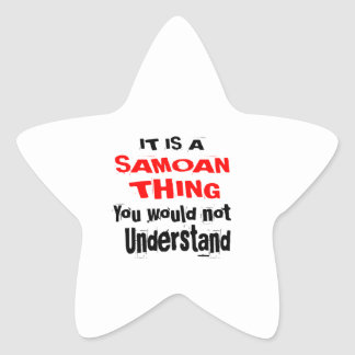 IT IS SAMOAN THING DESIGNS STAR STICKER