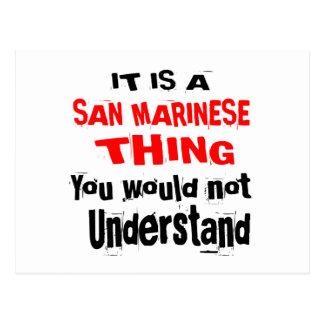 IT IS SAN MARINESE THING DESIGNS POSTCARD