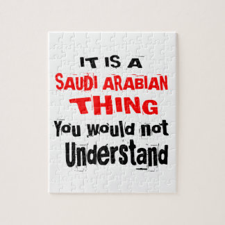 IT IS SAUDI ARABIAN THING DESIGNS JIGSAW PUZZLE