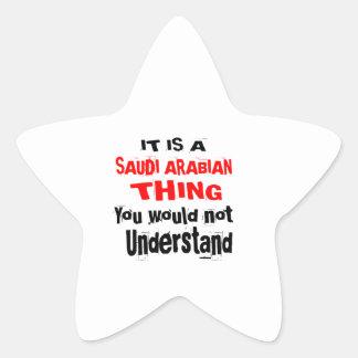 IT IS SAUDI ARABIAN THING DESIGNS STAR STICKER