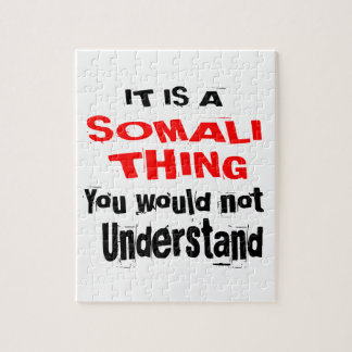 IT IS SOMALI THING DESIGNS JIGSAW PUZZLE