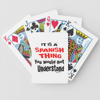 IT IS SPANISH THING DESIGNS BICYCLE PLAYING CARDS