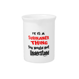 IT IS SURINAMER THING DESIGNS PITCHER