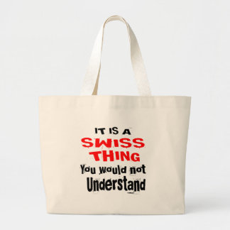 IT IS SWISS THING DESIGNS LARGE TOTE BAG