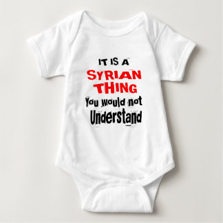 IT IS SYRIAN THING DESIGNS BABY BODYSUIT