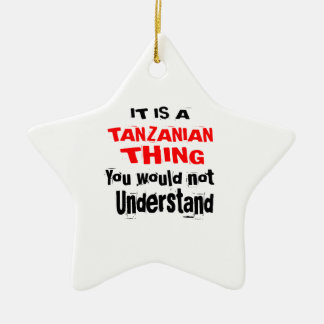 IT IS TANZANIAN THING DESIGNS CERAMIC ORNAMENT