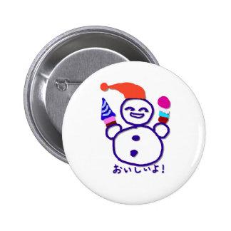 It is tasty 6 cm round badge