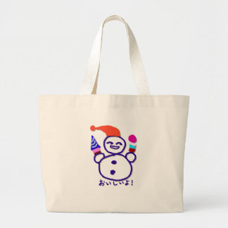 It is tasty large tote bag