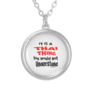 IT IS THAI THING DESIGNS SILVER PLATED NECKLACE