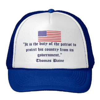"""It is the duty of the patriot... Mesh Hats"