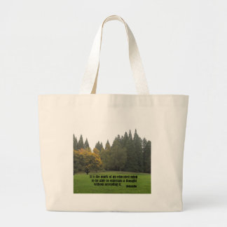 It is the mark of an educated mind...Aristotle Large Tote Bag